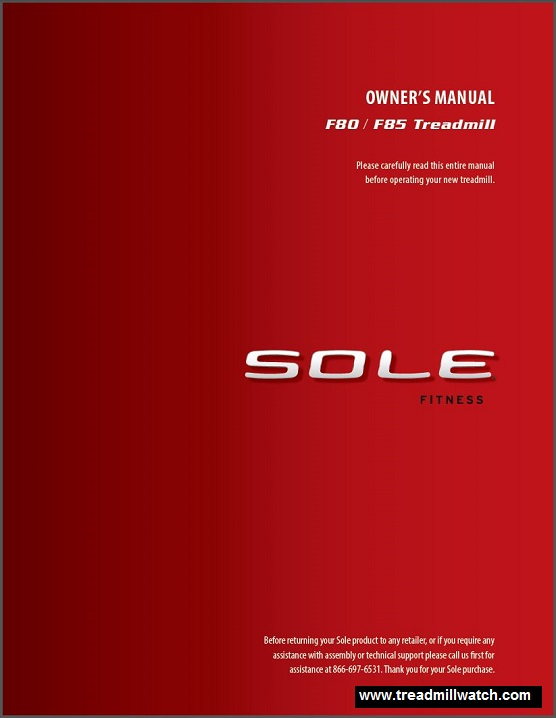 012 sole f80 owners manual
