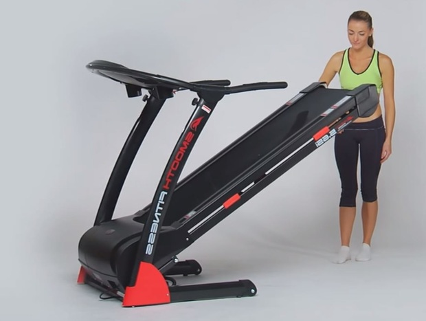 compact treadmill folding step 2