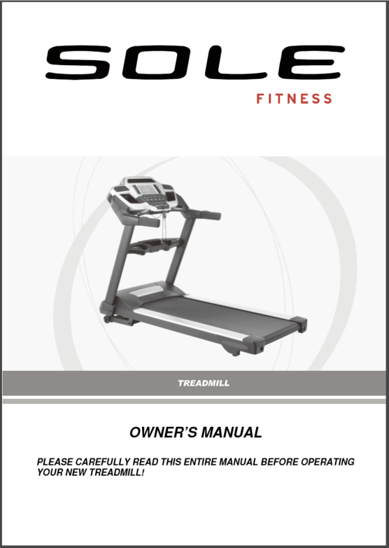 sole tt8 light commercial treadmill owners manual