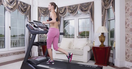 women on sole treadmill