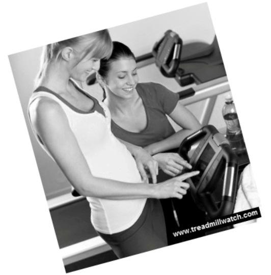 women on treadmill